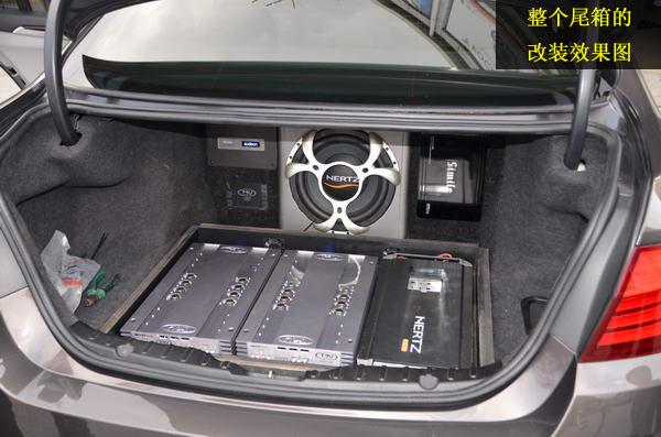 拒绝平庸 宝马535汽车音响改装丹拿s342三分频 tru功放