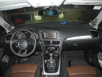 长沙奥迪Q5汽车音响换装摩雷意雷603音响