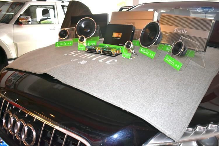 长沙车乐汇汽车影音:奥迪Q7改装升级诗蔓三分频汽车音响