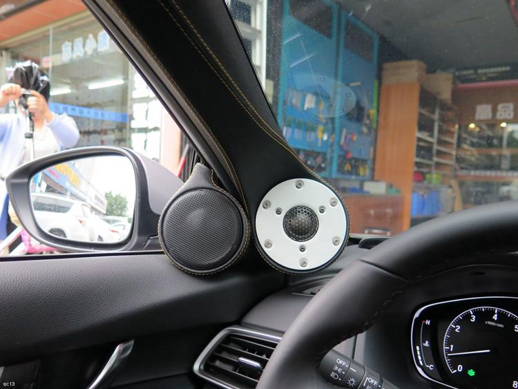 本田雅阁汽车音响改装丹拿喇叭和美国TRU发烧功放-东莞车乐汇