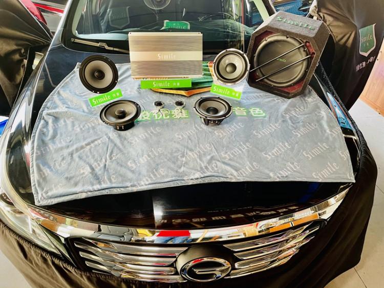 传祺汽车音响改装诗蔓喇叭功放和低音,东莞车乐汇汽车音响